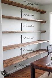 wall to wall floating shelves