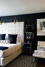 Style At Home Of Black And Cream Gold White Bedroom Pink ...