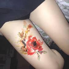 водонепроницаемые временные тату наклейки сексуальные изящные цветочные на