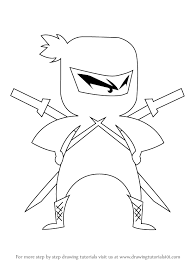 Small Picture How to Draw Ninja for Kids printable step by step drawing sheet