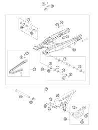 2012 ktm 350 exc f swing arm parts best oem swing arm parts diagram for 2012 350 exc f motorcycles