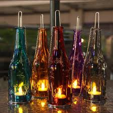 ideas for glass bottle candles