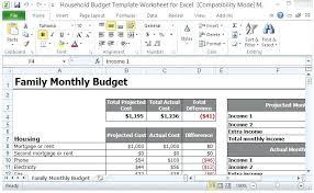 Sample Of Family Budget Sample Family Budget Spreadsheet Castilloshinchables Co