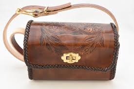 rustic fl motif purse