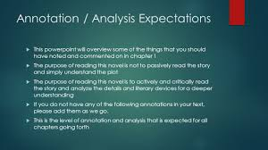 chapter annotations analysis ppt video online annotation analysis expectations
