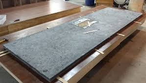 rough concrete countertop