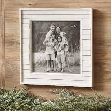 white distressed planked wood picture frame