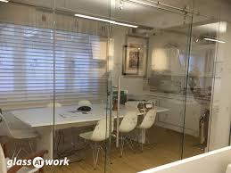 exposed rail sliding frameless glass doors