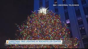 Nbc Christmas Lighting Rockefeller Center Christmas Tree Lighting Ceremony Celebrates Holiday Season