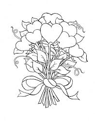 Small Picture Beautiful Bouquet of Hearts and Roses Coloring Page Color Luna