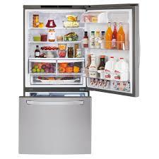 Largest Capacity Refrigerator Ldc24370stlg Appliances 33 241 Cu Ft Bottom Freezer