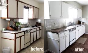 image of painting laminate cabinets with chalk paint