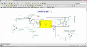 schematic editor in tina how to make a schematic diagram schematic diagram of an fm modulator circuit