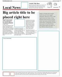 Newspaper Article Template Free Online Free Newspaper Template Pack For Word Perfect For School