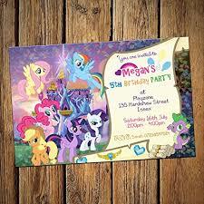 Scroll Birthday Invitations My Little Pony Scroll Birthday Party Invitations Envelopes Pack