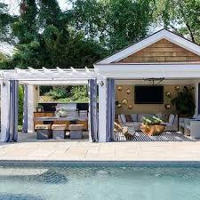 pool cabana interior. Modren Cabana Pool Cabana With Gray Grommet Curtains For Interior F
