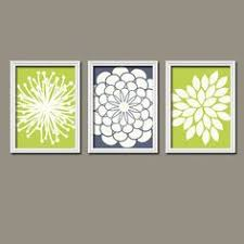 wonderful lime green wall art best of black flower print trio home petals bloom navy ivory on lime green wall art prints with lime green wall art japs fo