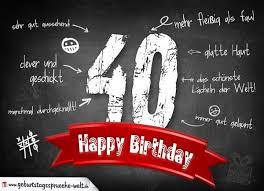 Sprüche Zum 40 Geburtstag ᐅ Kurze Glückwünsche Zum 40 Geburtstag