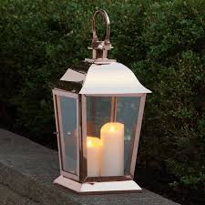 parkside copper candle lantern outdoor candles lanterns and lighting light the parkside is sure to delight