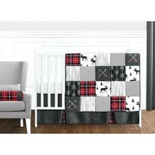 nursery bedding woodland crib set deer black arrows red and buffalo plaid sets baby