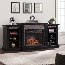 southern enterprises gallatin infrared electric fireplace in black fi8525
