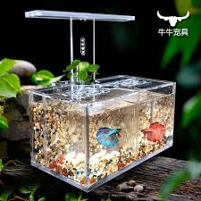 office desk fish tank. 2017 acrylic fish tank water free isolation box office desk led lamp pump filter ecological small aquarium from xinmoyuan66 49246 dhgatecom
