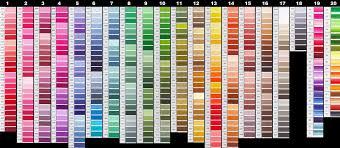 Dmc Embroidery Floss Color Chart Dmc Floss Color Chart Each Thread Is Listed By Color