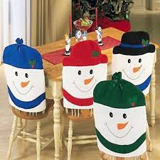 household dining table set christmas snowman knife: christmas lovely chair covers santa snowman christmas dining room chair cover home party christmas decoration supplies