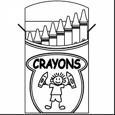 incredible crayon box clip art black and white with coloring pages