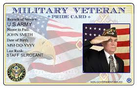 custom Veteran Buy Pride Cheap Military Price Card com On In army Id Alibaba