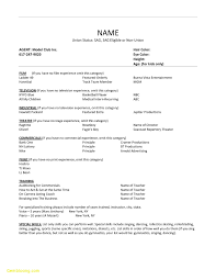 Acting Resume Templates New Acting Resume Template Beautiful Acting Resume Templates Free