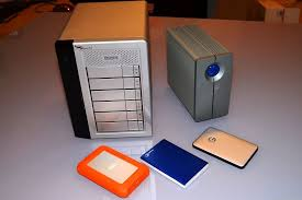 a few desktop and portable external storage devices