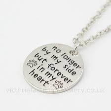 details about forever in my heart pendant necklace silver plate dog cat pet