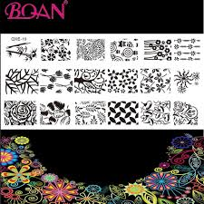 Different Types Of Patterns Delectable 48pcslot 48 Different Types Patterns Stainless Steel Nail Art