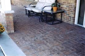 stamped concrete overlay. Stamped Concrete Porch Overlay