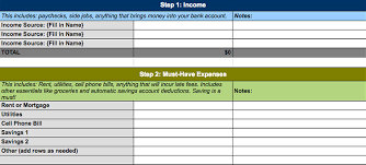 Budget Expenses Template 4 Free Simple Personal Monthly Budget Templates