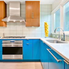 bright blue cabinets kitchen contemporary cabinet lighting guide sebring