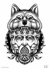 сделать татуировку по мотивам романа степной волк на бедро в