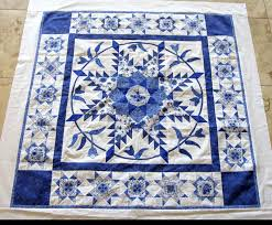 Selvage Postcard | Antique quilts, Star quilts and Star & Medallion quilt · blue and white ... Adamdwight.com