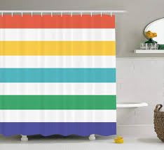 curtains ideas blue striped shower curtain rainbow colored and white fun horizontal lines kids room