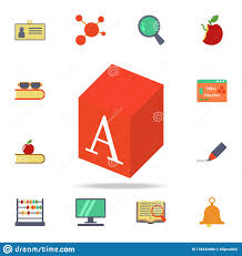 Graphic Letter Design Online Play Box With A Letter Colored Icon Detailed Set Of Colored