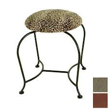 grace collection 18 in h antique bronze round makeup vanity stool