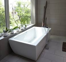 freestanding tub with shower bathtub layout plan tiled