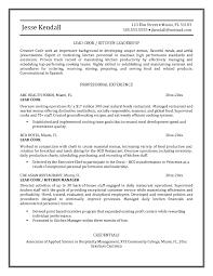 Thai Chef Sample Resume Service Consultant Sample Resume