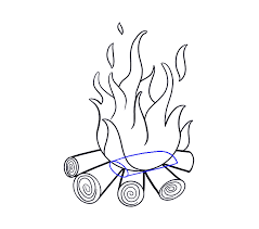 how to draw fire step 16