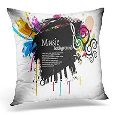 Funky throw pillows Sofa Emvency Throw Pillow Covers Funky Musical Disco With Music Tunes Party Decorative Pillows Case Square Size Amazoncom Amazoncom Emvency Throw Pillow Covers Funky Musical Disco With