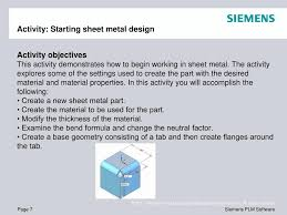 Sheet Metal Design Fundamentals Ppt Solid Edge St4 Training Sheet Metal Design Powerpoint