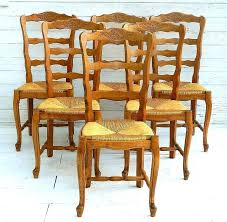 6 ladder back chairs 6 french provincial vintage cherry rush seat dining chairs ladder back 6