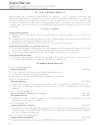 Sample Hotel Resume Impressive Restaurant Resume Sample As Well General Manager Template Hotel