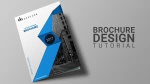 Product Brochure Cover Design How To Design Brochure In Photoshop Cs6 Brochure Datasheet Design Tutorial